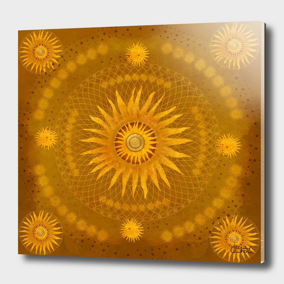 """""""Ocher Celestial Vault Mandala"""""""