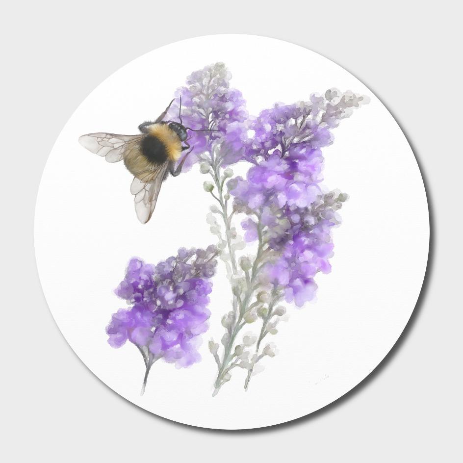 Watercolor Bumblebee