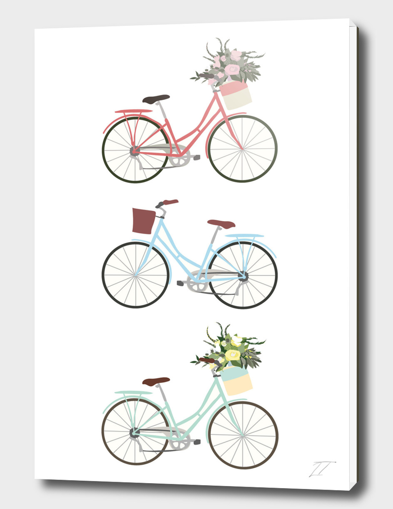 Pastel Bicycle Print