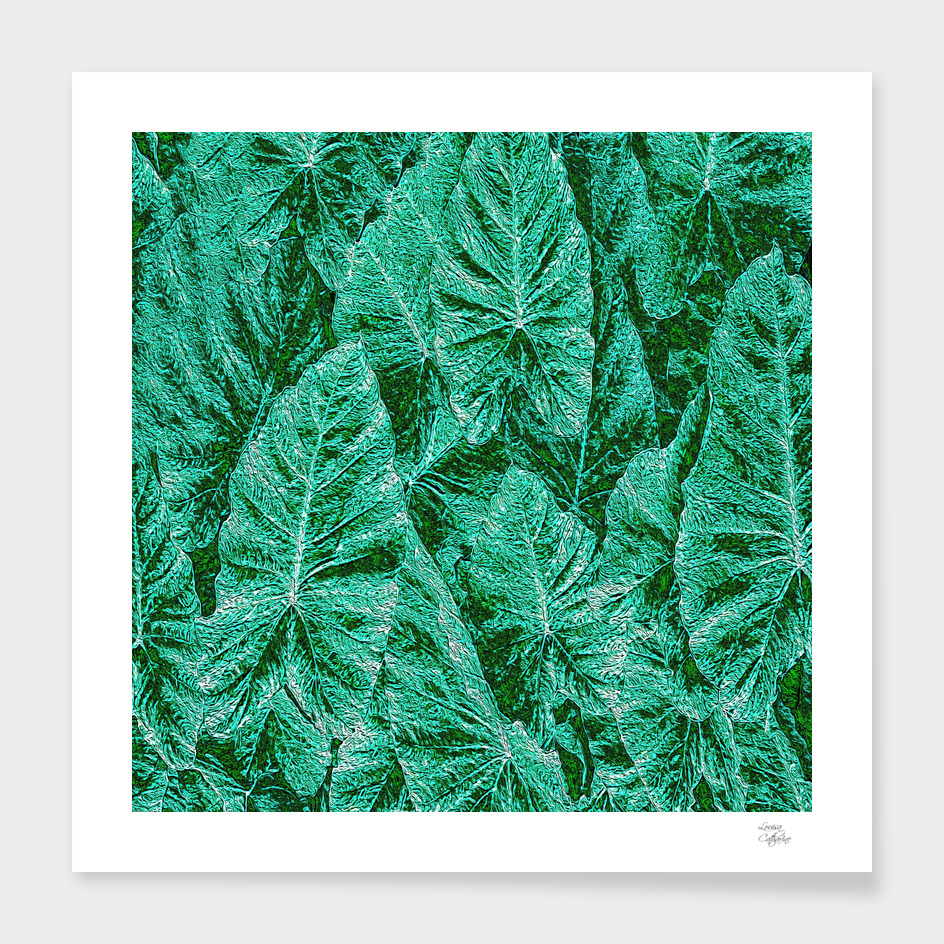 Green With Envy Leaf Pattern