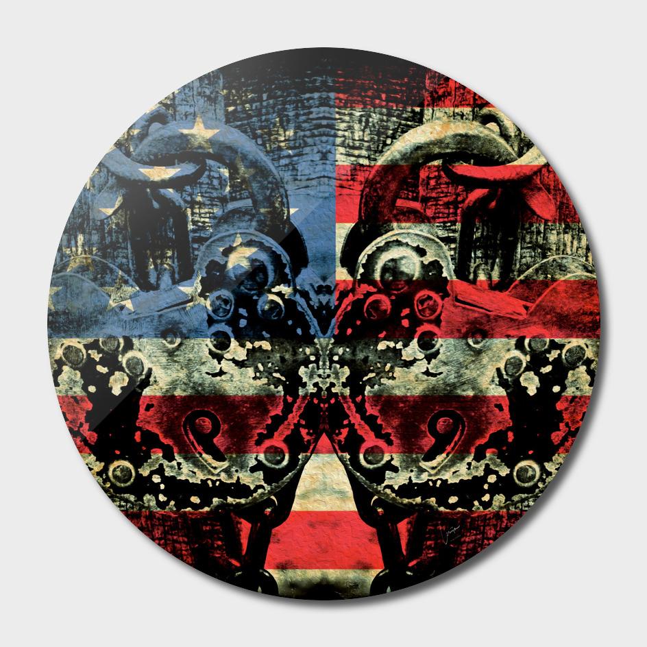 Vintage Style American Flag