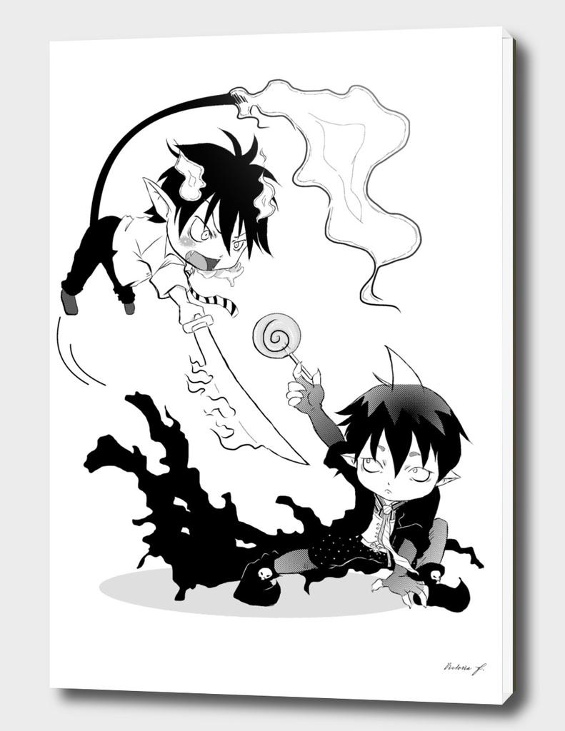 Rin vs Amaimon