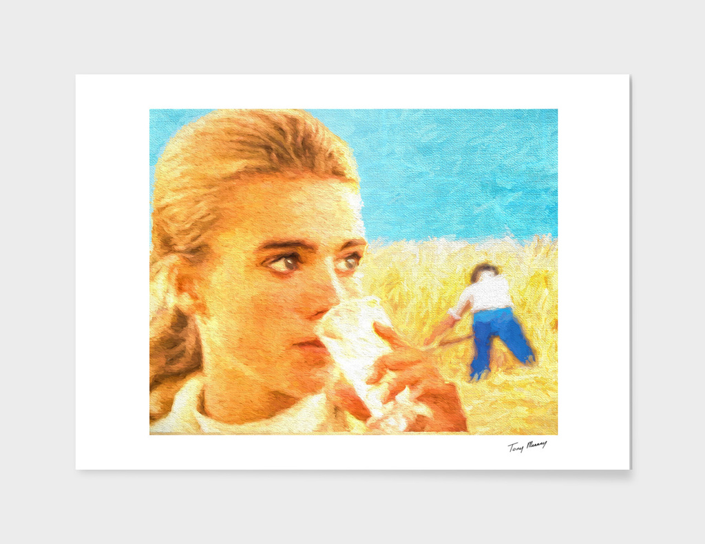 Girl in a wheatfield
