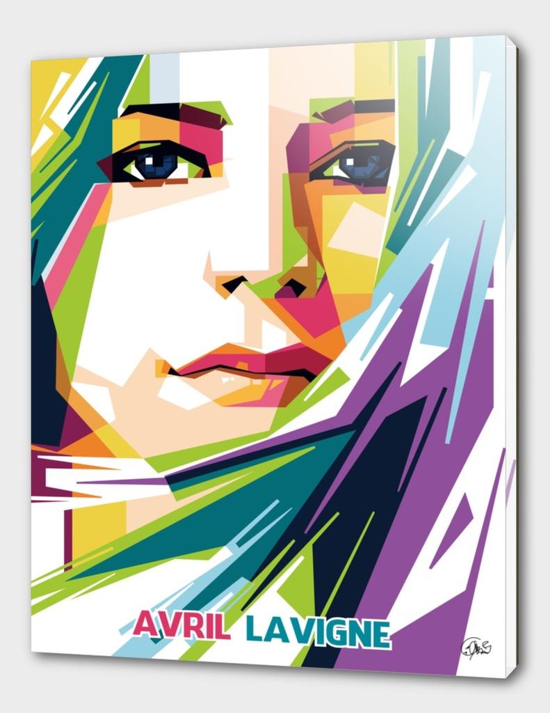 Avril Lavigne in Pop Art Portrait