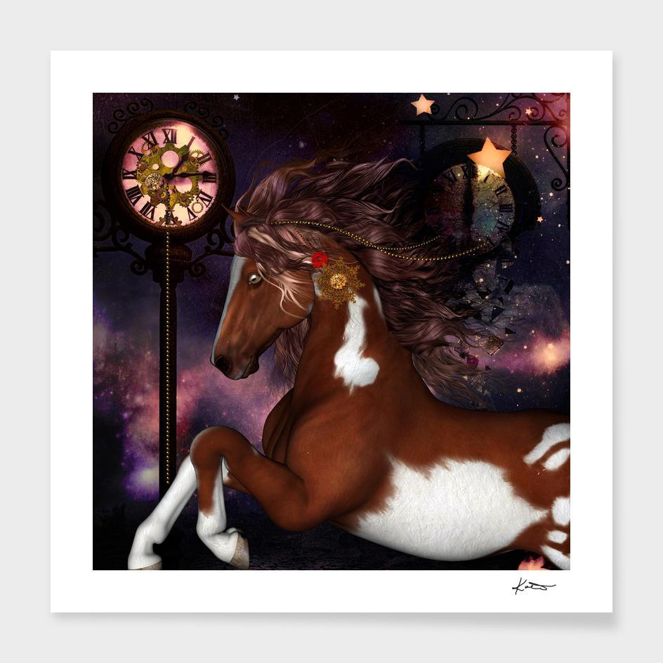 Steampunk, beautiful steampunk horse