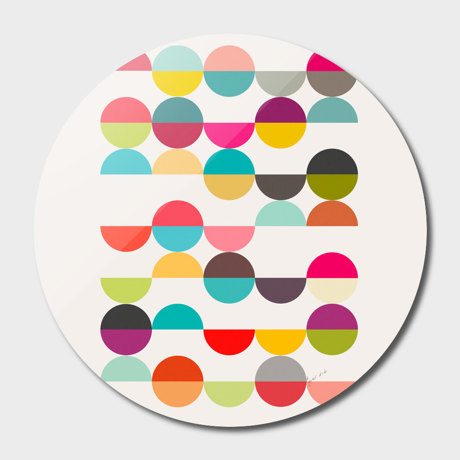 Nordic Color Pop Circles