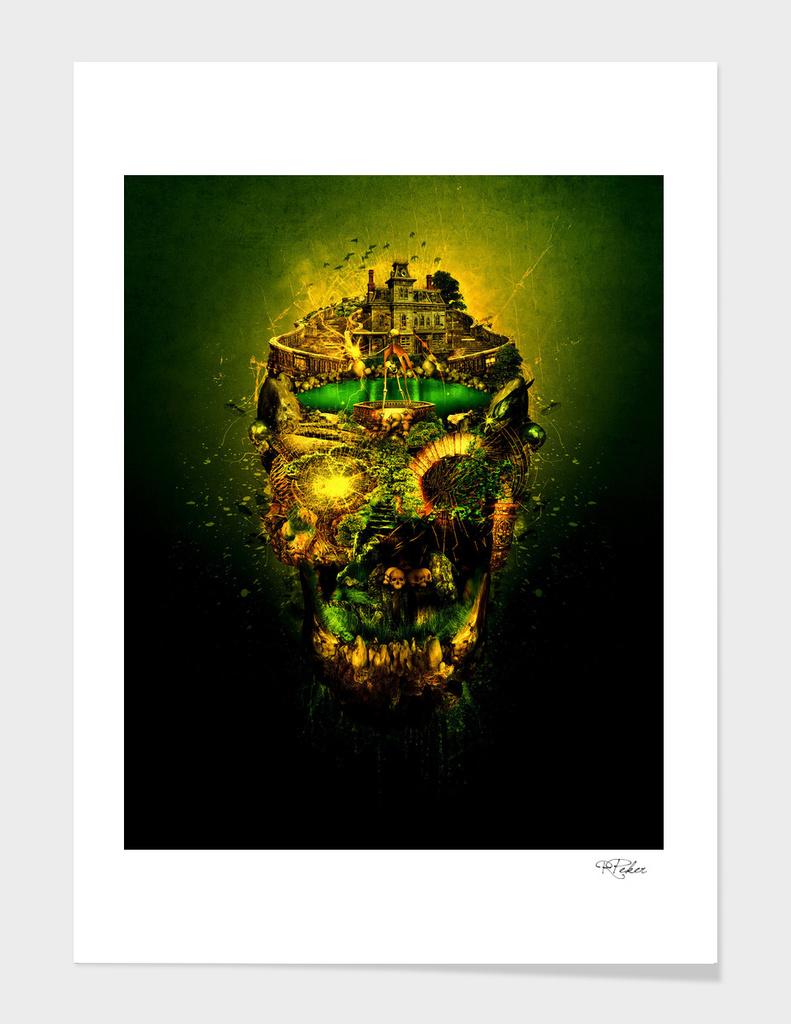 Haunted Skull II Wall