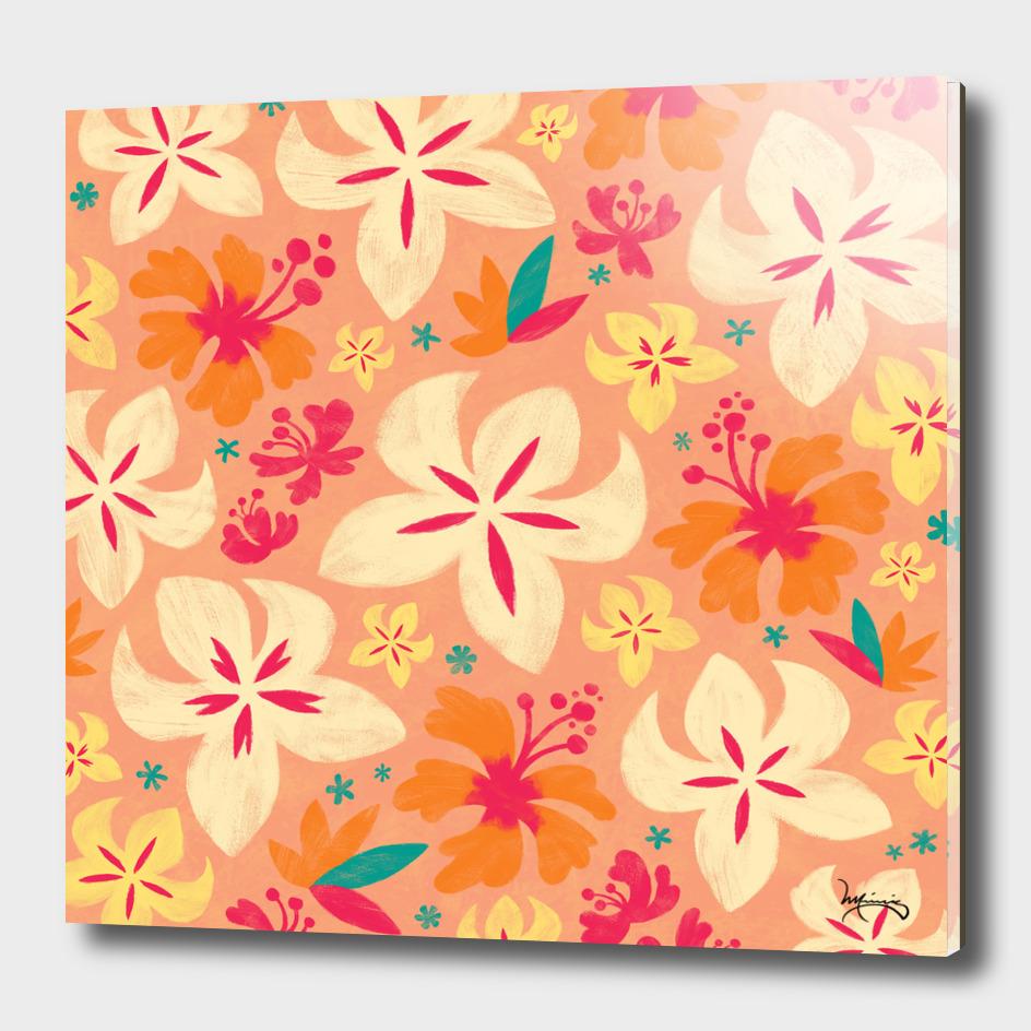 Tropicana Floral (coral)