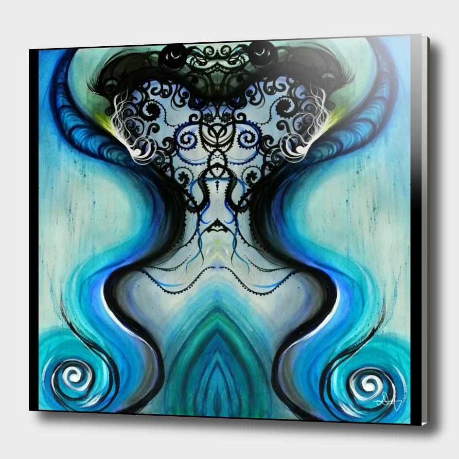 Psychedelic Moustache Squid