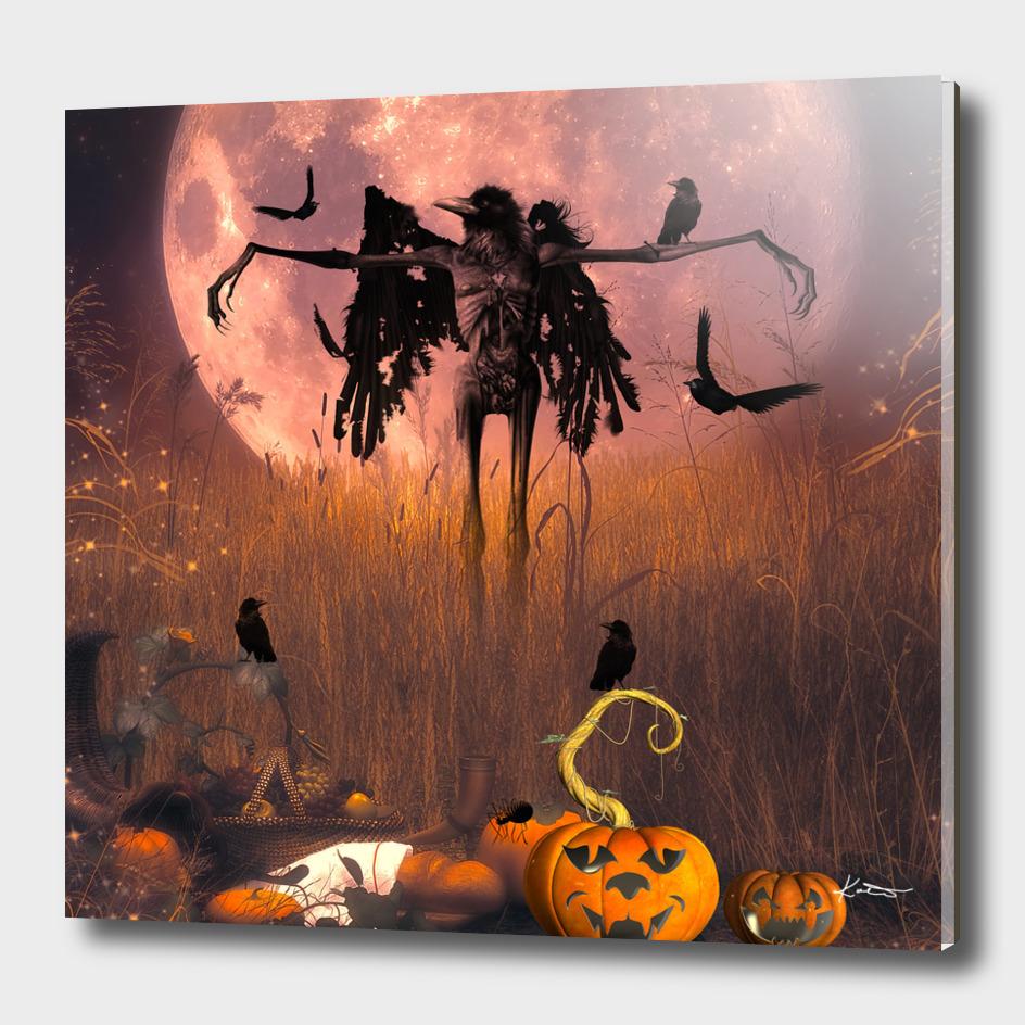 Halloween design with scarecrow