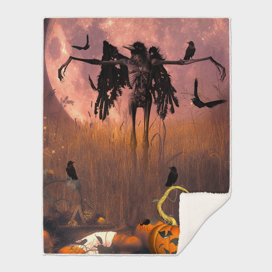 Halloween design with scarecrow
