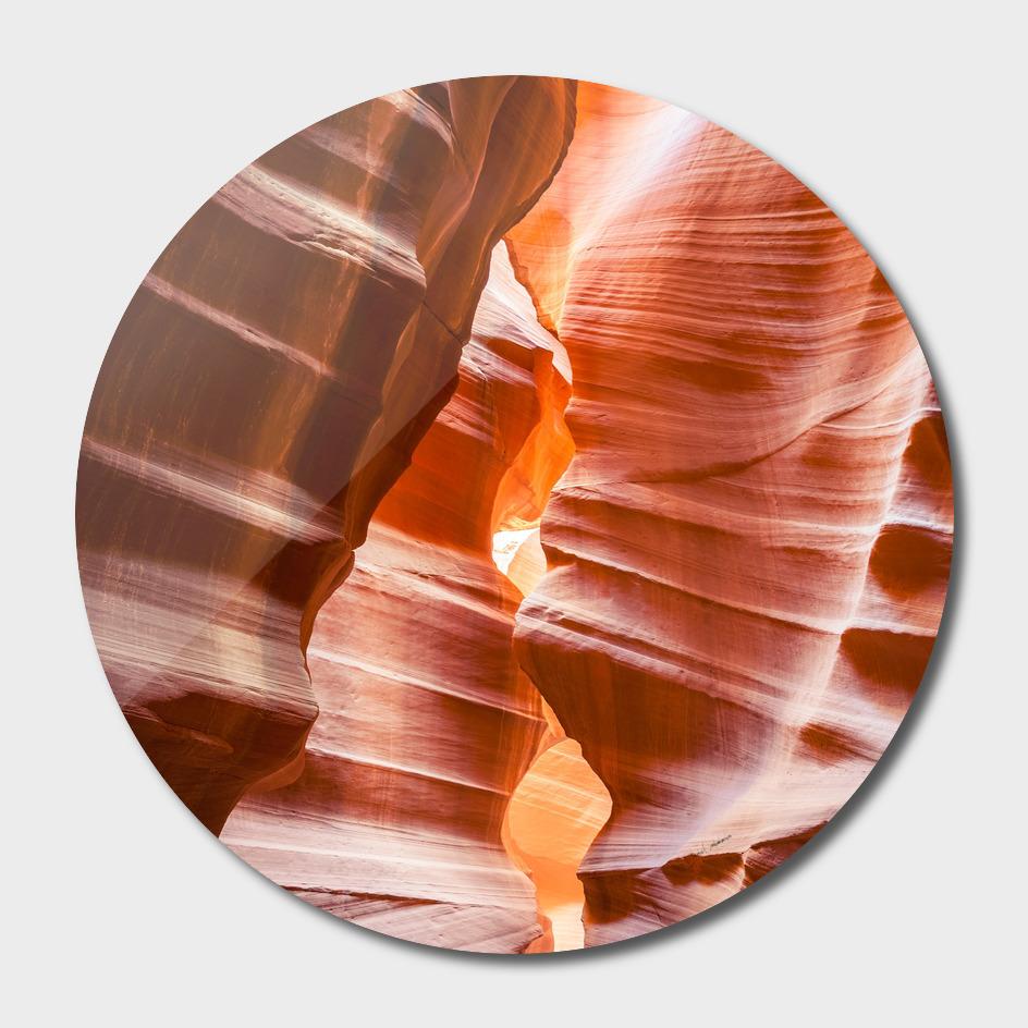 Walls of sandstone at Antelope Canyon