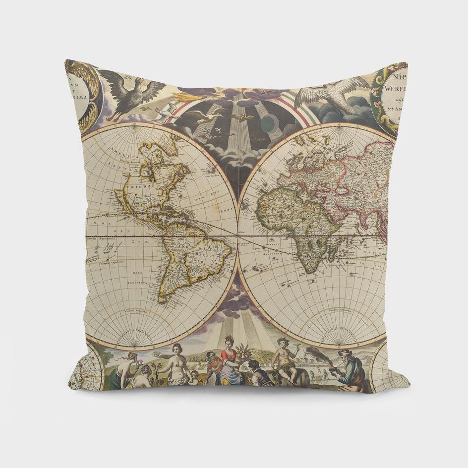 Vintage World Map (1665)
