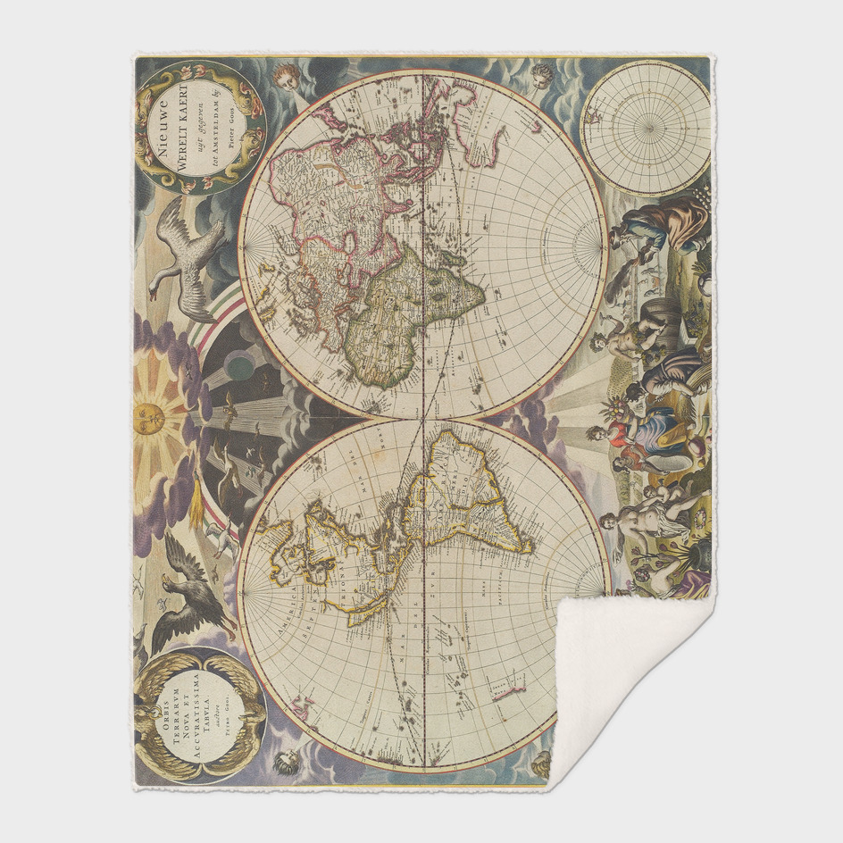 Vintage World Map (1665)