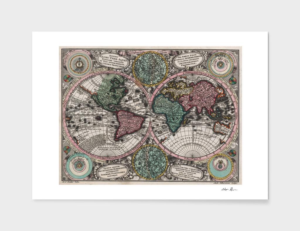Vintage World Map (1744)