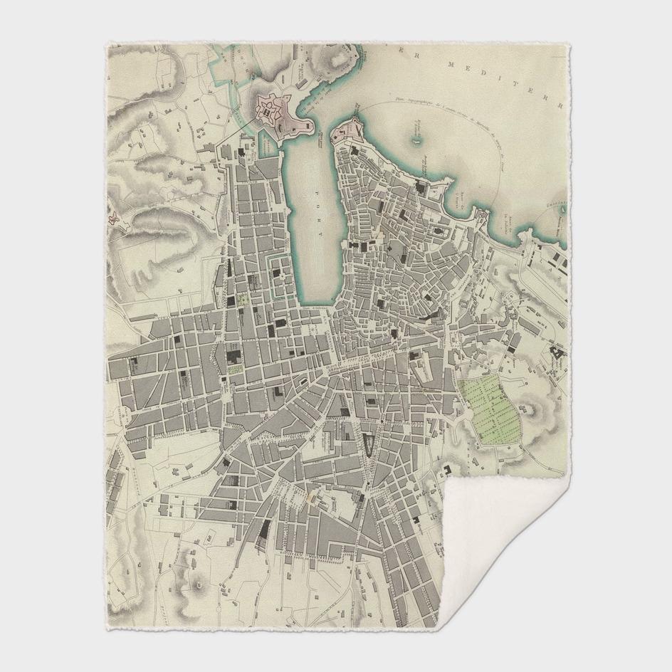 Vintage Map of Marseille France (1840)