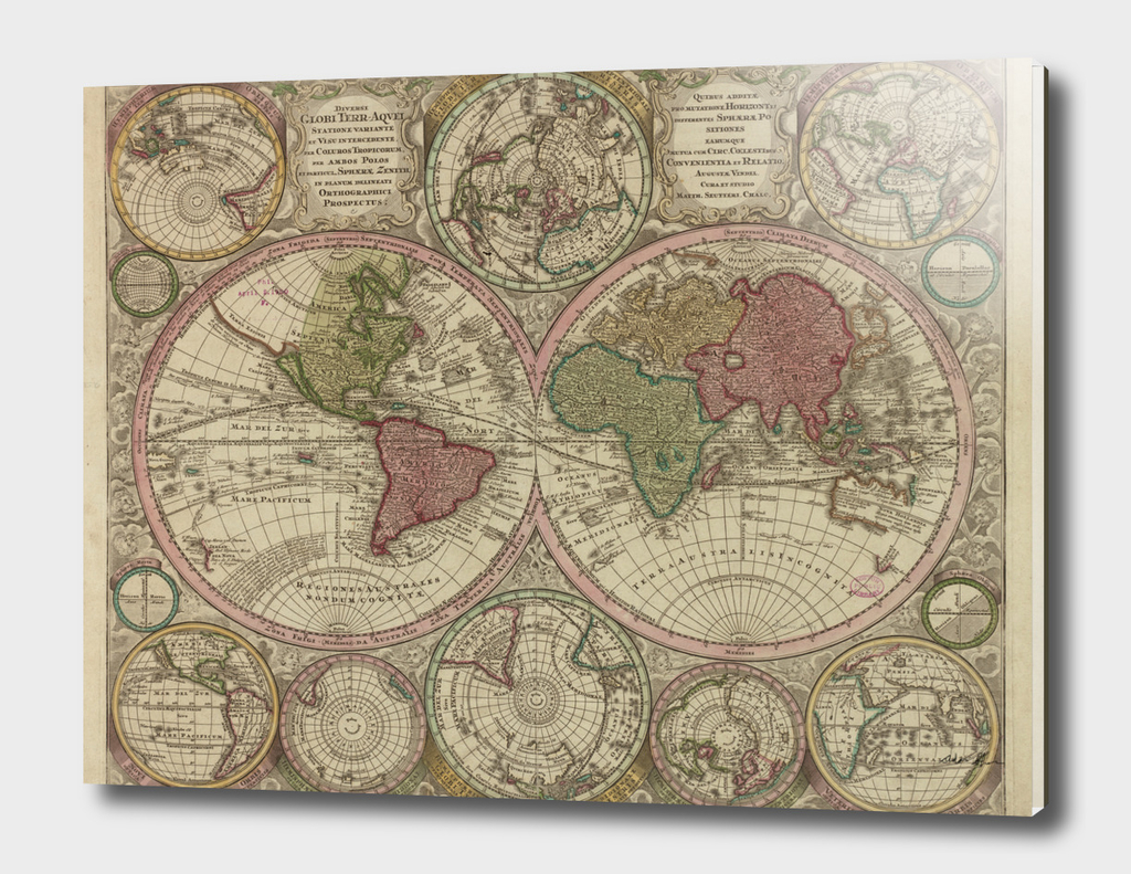 Vintage Map of The World (1730)