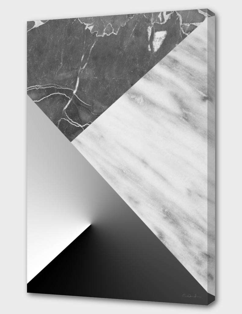 Marble Collage in Black and White