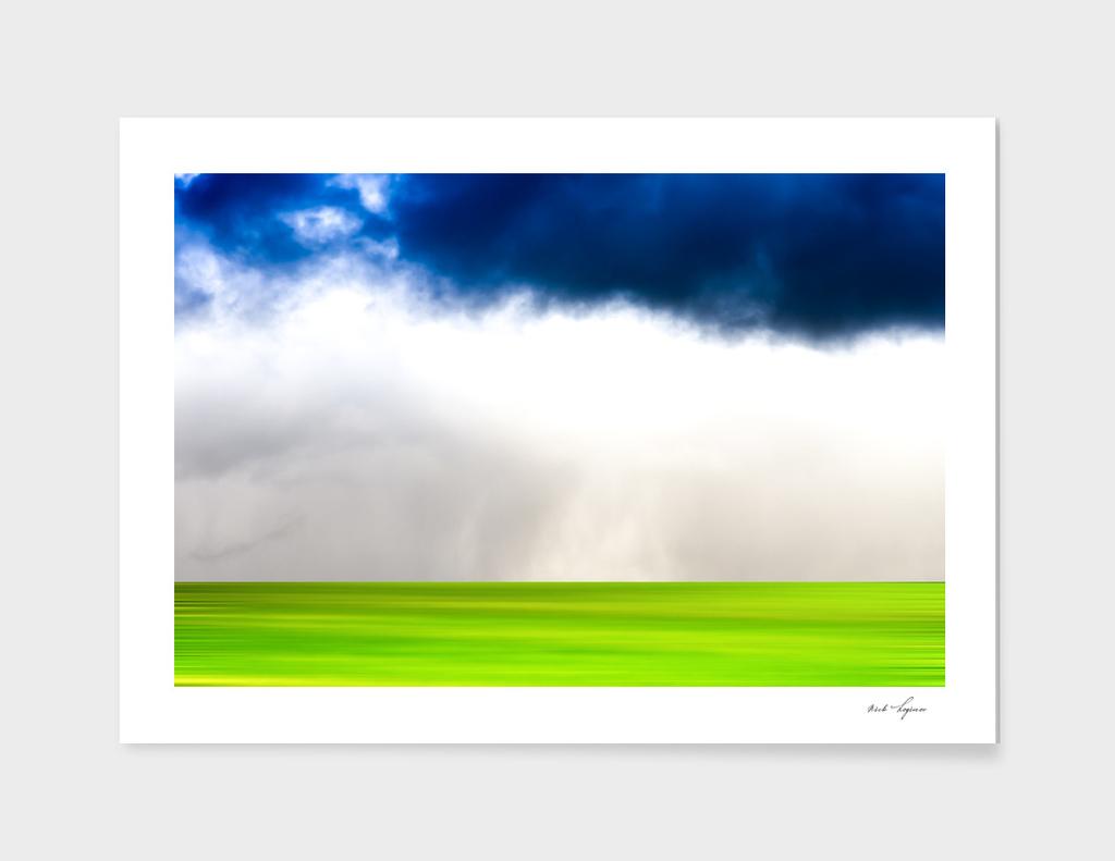 Overcast before summer rain
