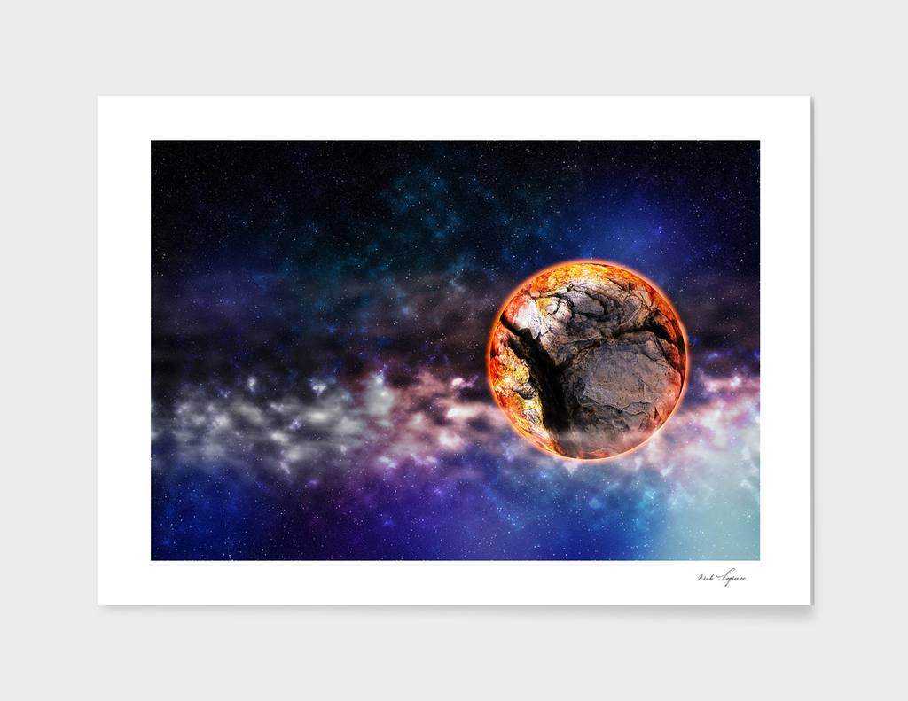 Unknown planet in space