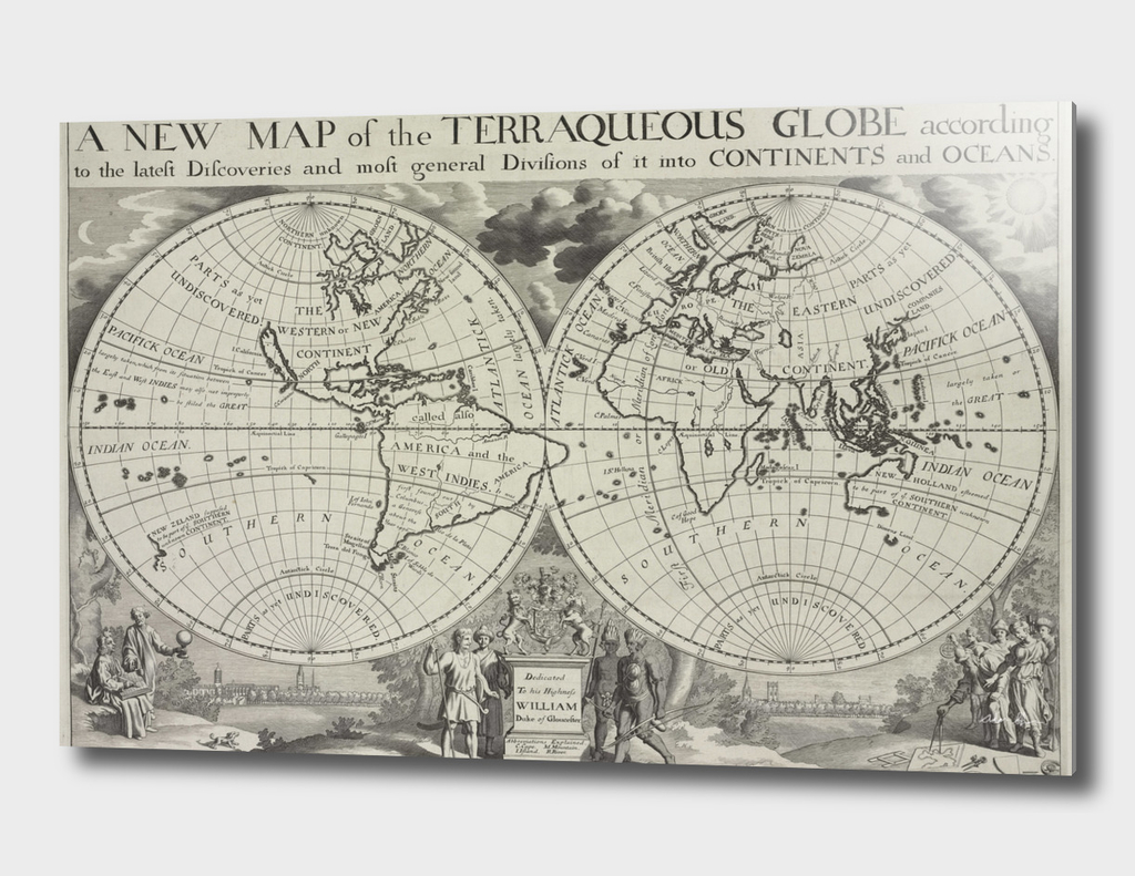 Vintage Map of The World (1700)