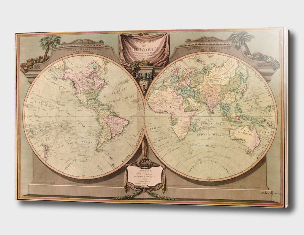 Vintage Map of The World (1808)