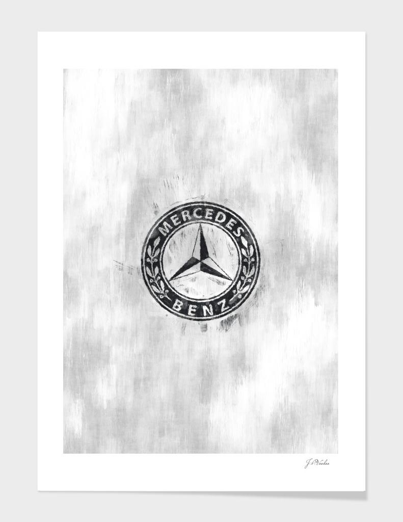 Mercedes-Benz logo sketch