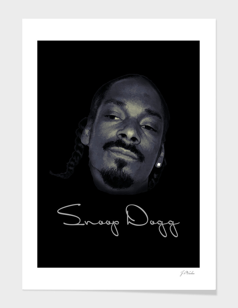 Snoop Dogg oil painting