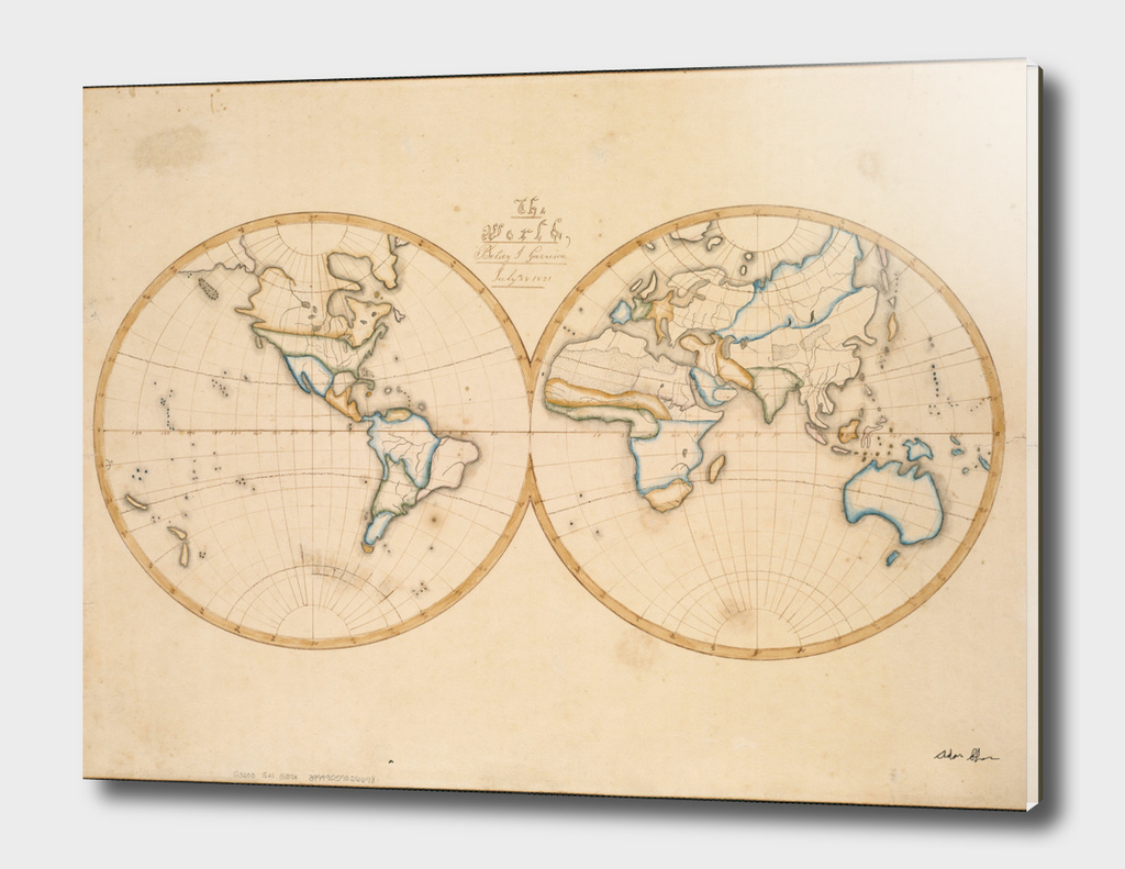 Vintage Map of The World (1821)