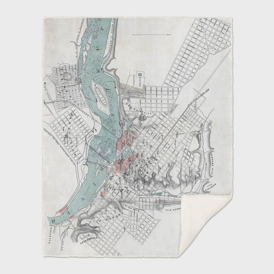 Vintage Map of Richmond Virginia (1864)