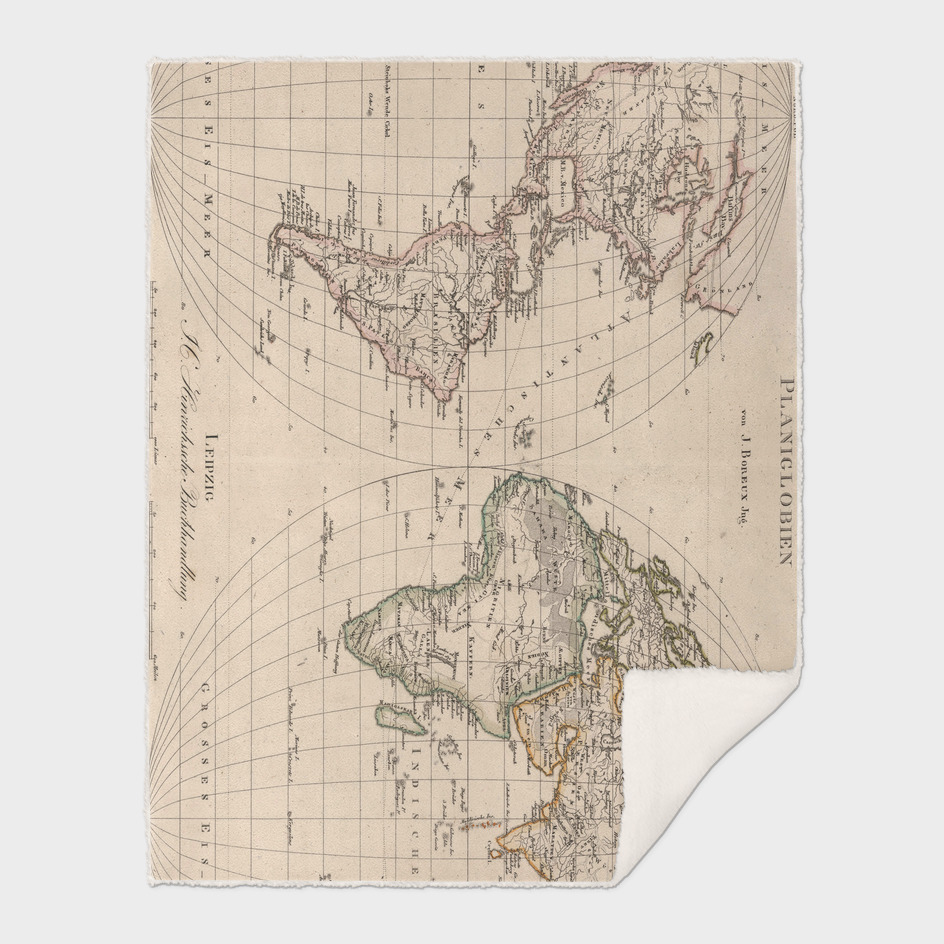 Vintage Map of The World (1827)