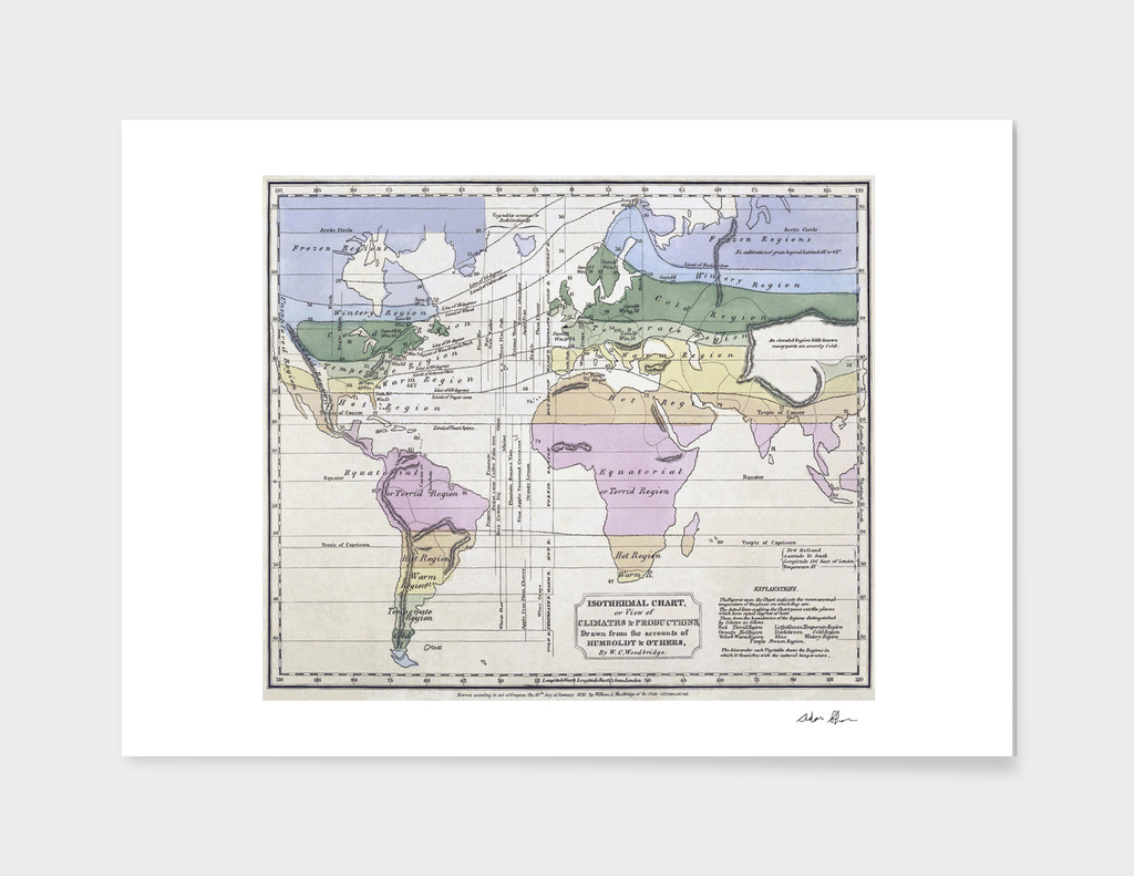 Vintage Map of The World (1823) 3