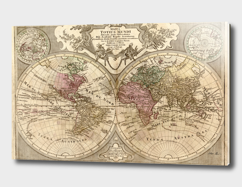 Vintage Map of The World (1775) 2