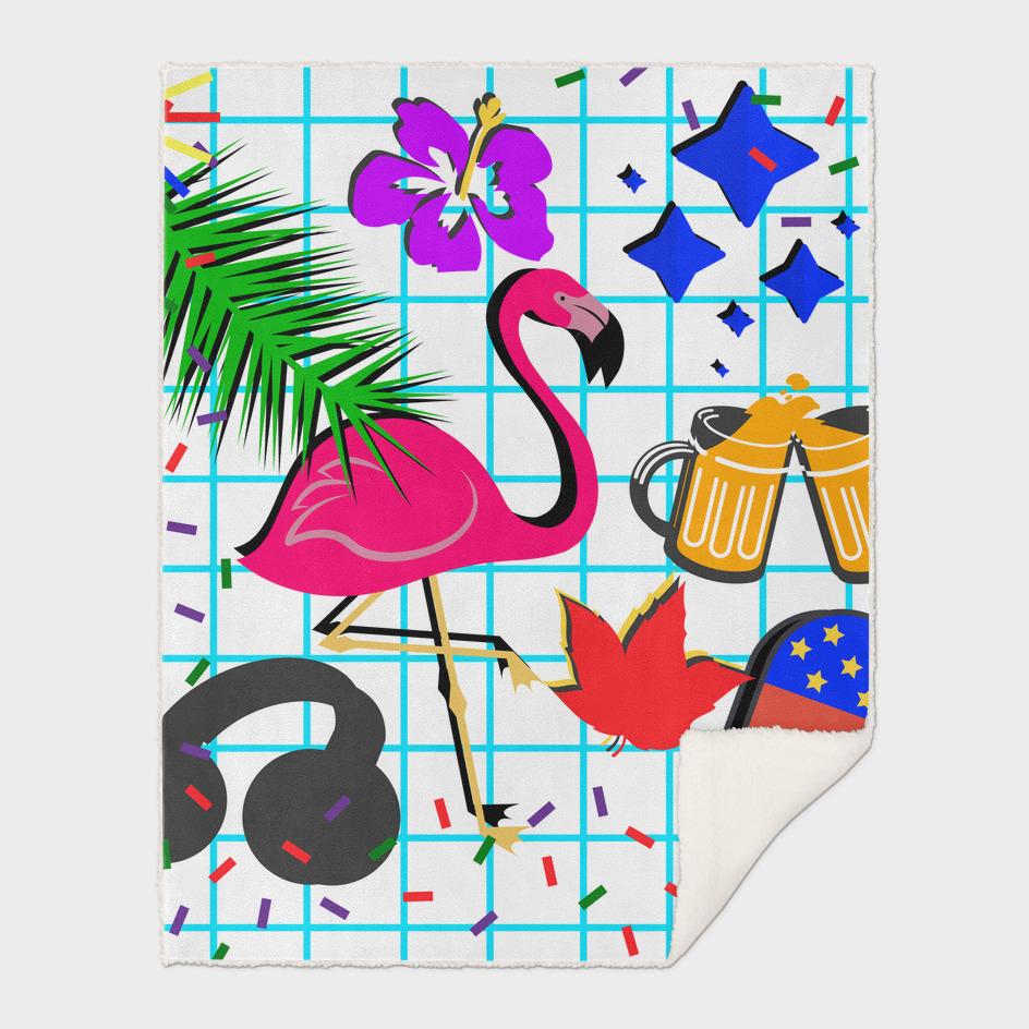 checks flamingo pattern