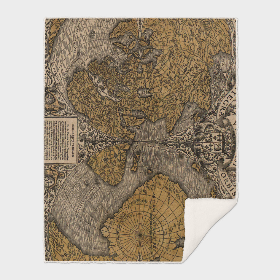 Vintage Map of The World (1531)