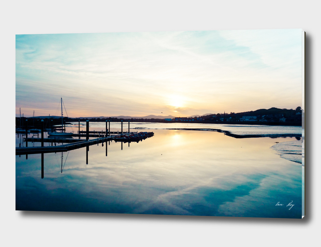 Pwllheli Marina - Mirror Reflection 01