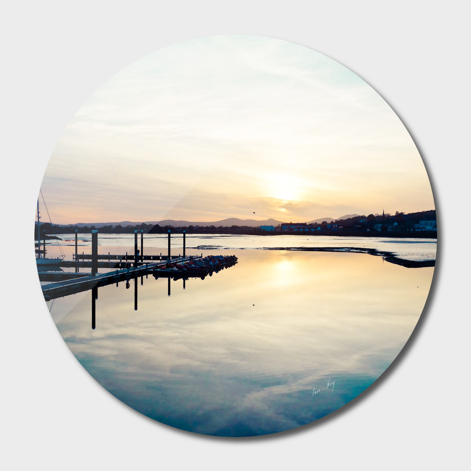 Pwllheli Marina - Mirror Reflection 01