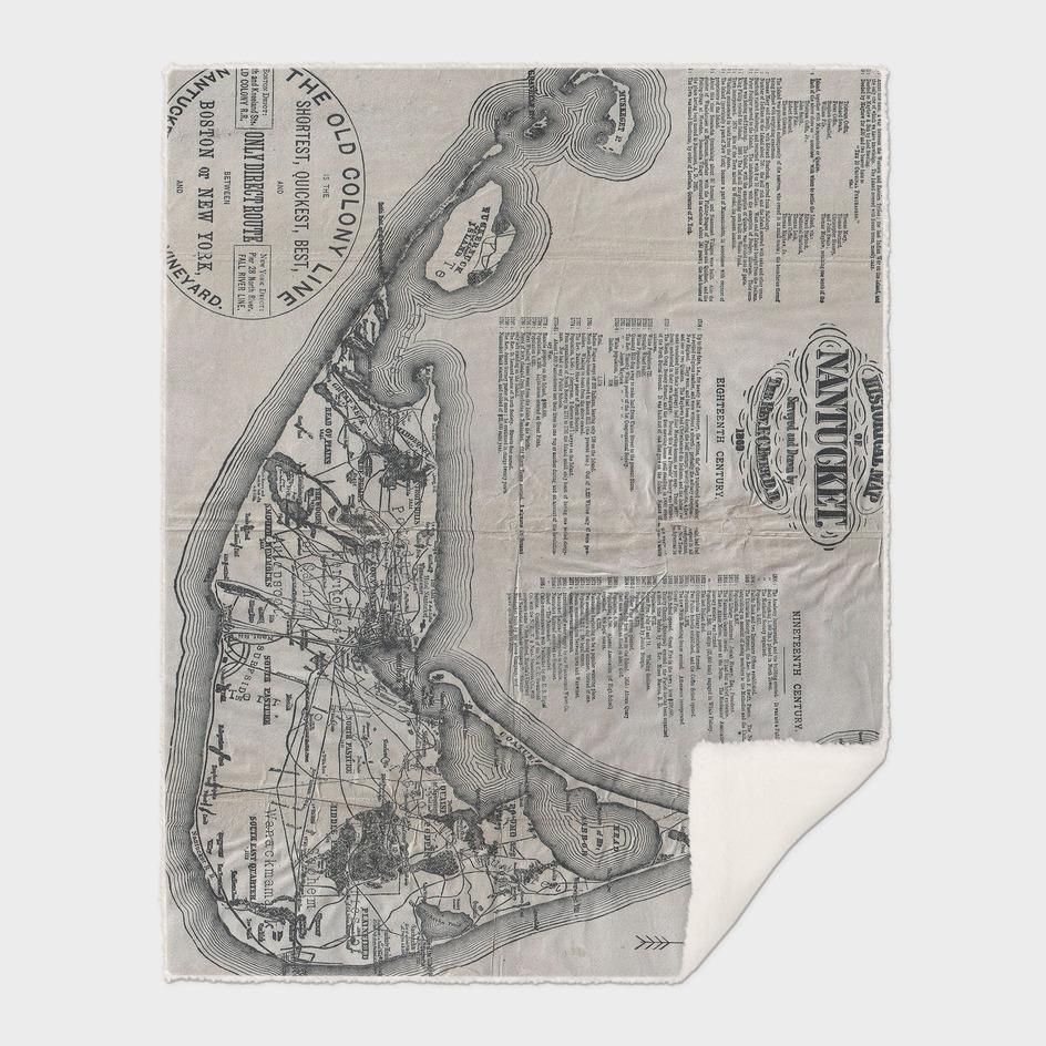 Vintage Map of Nantucket (1889)