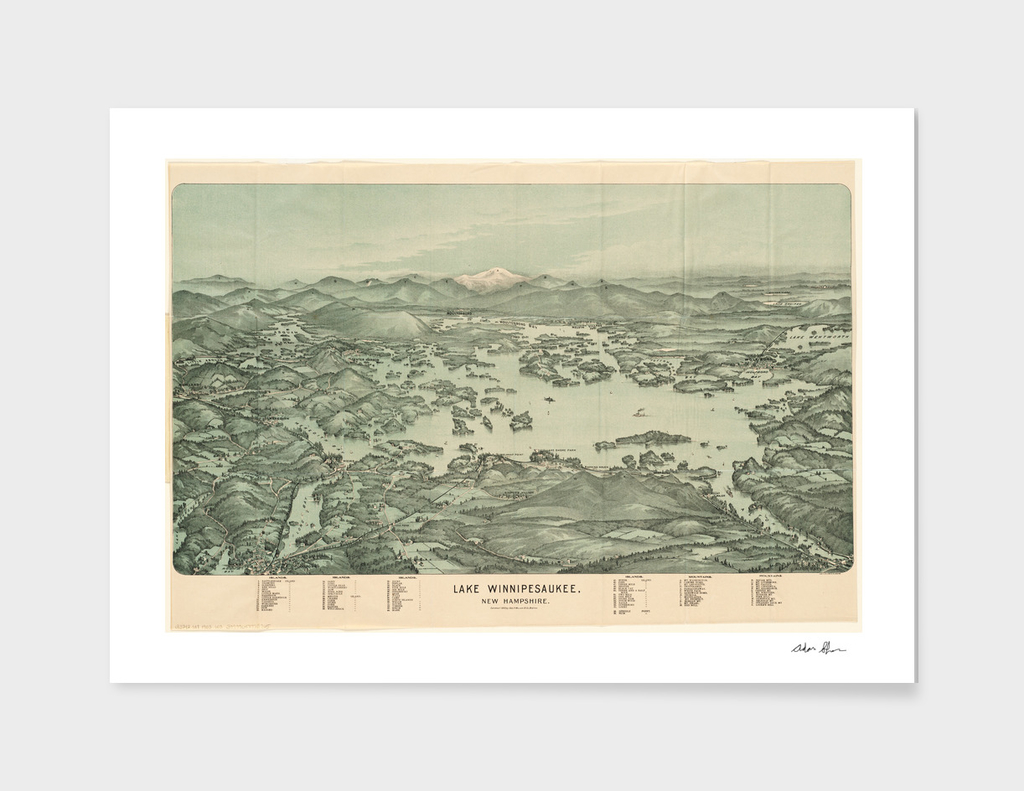 Vintage Map of Lake Winnipesaukee (1903)