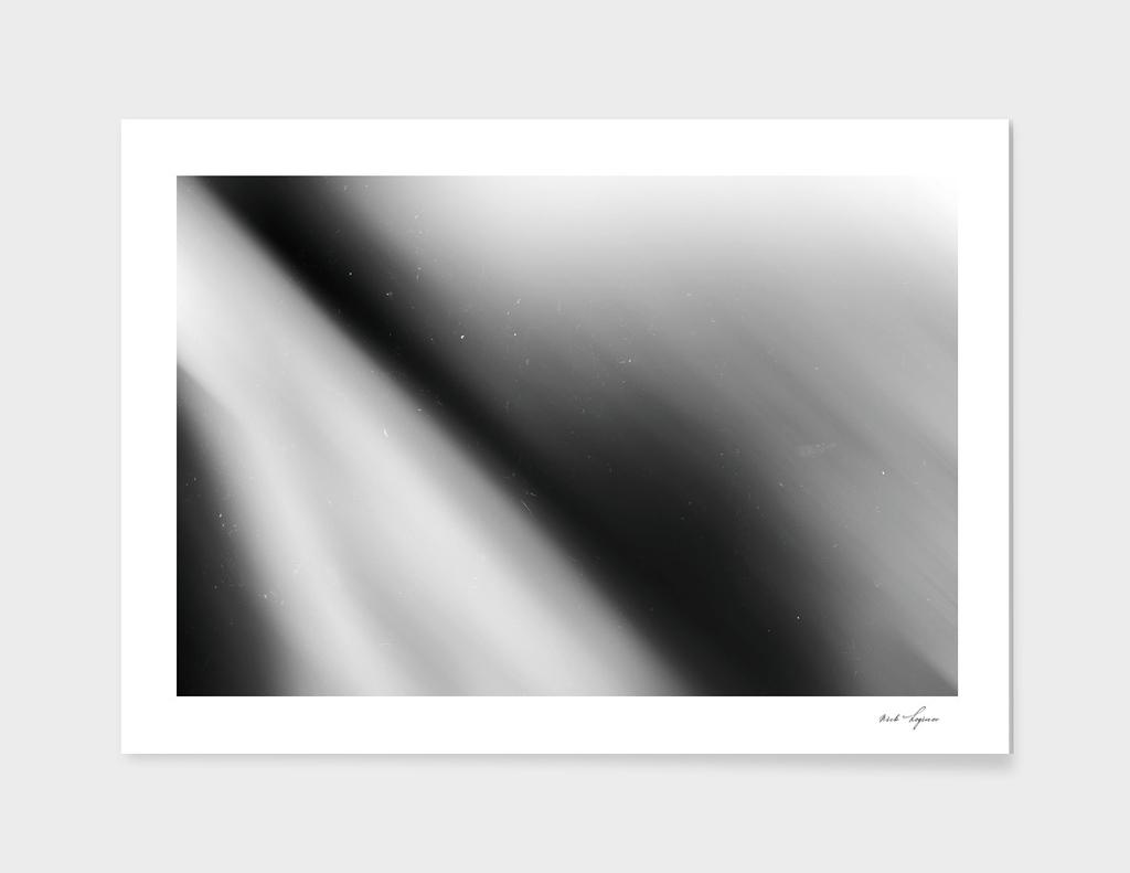 Dramatic black and white rays