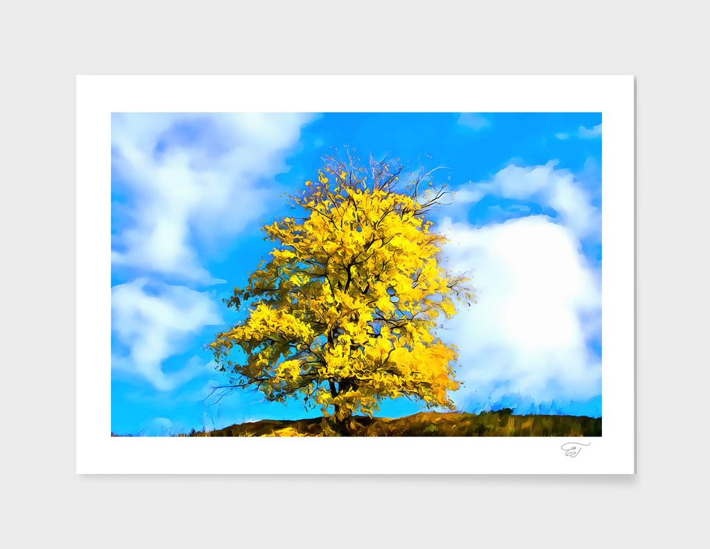 Autumn Tree. Minimalizm
