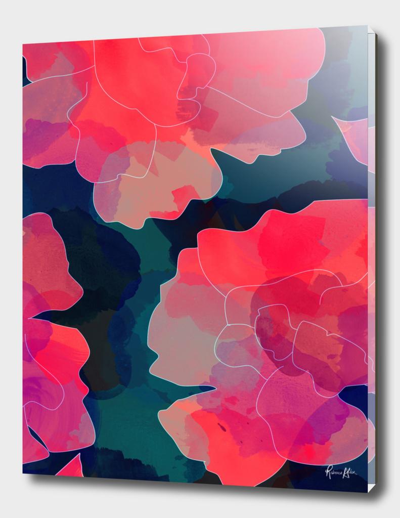 Blushing Flowers- Purple