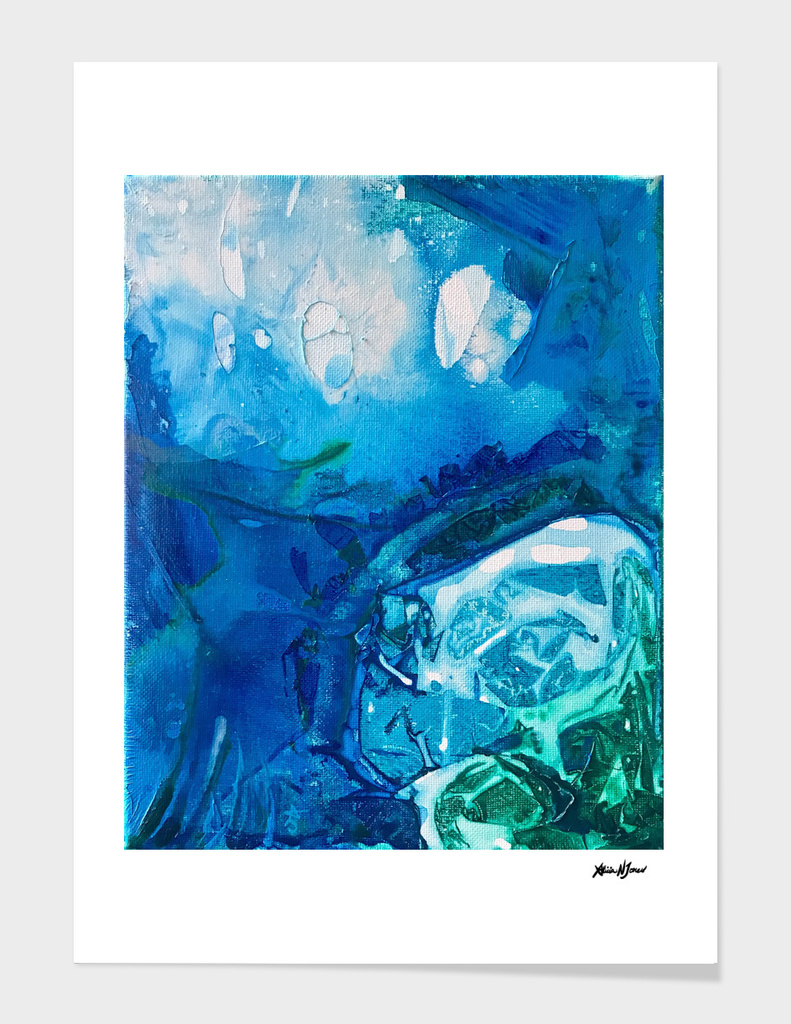 Deep Blue Ocean Life