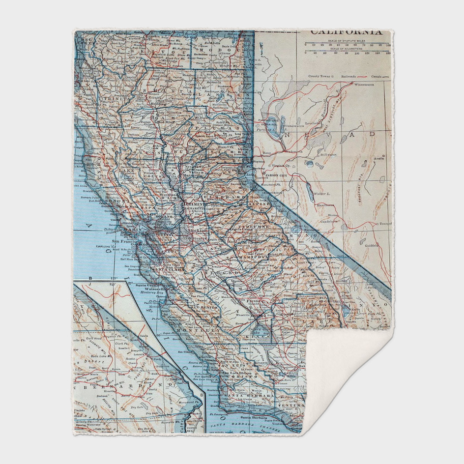Vintage Map of California (1921)