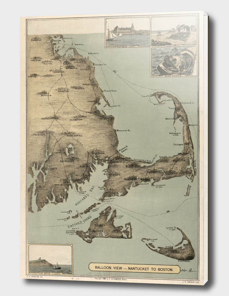 Vintage Map of Cape Cod (1885)