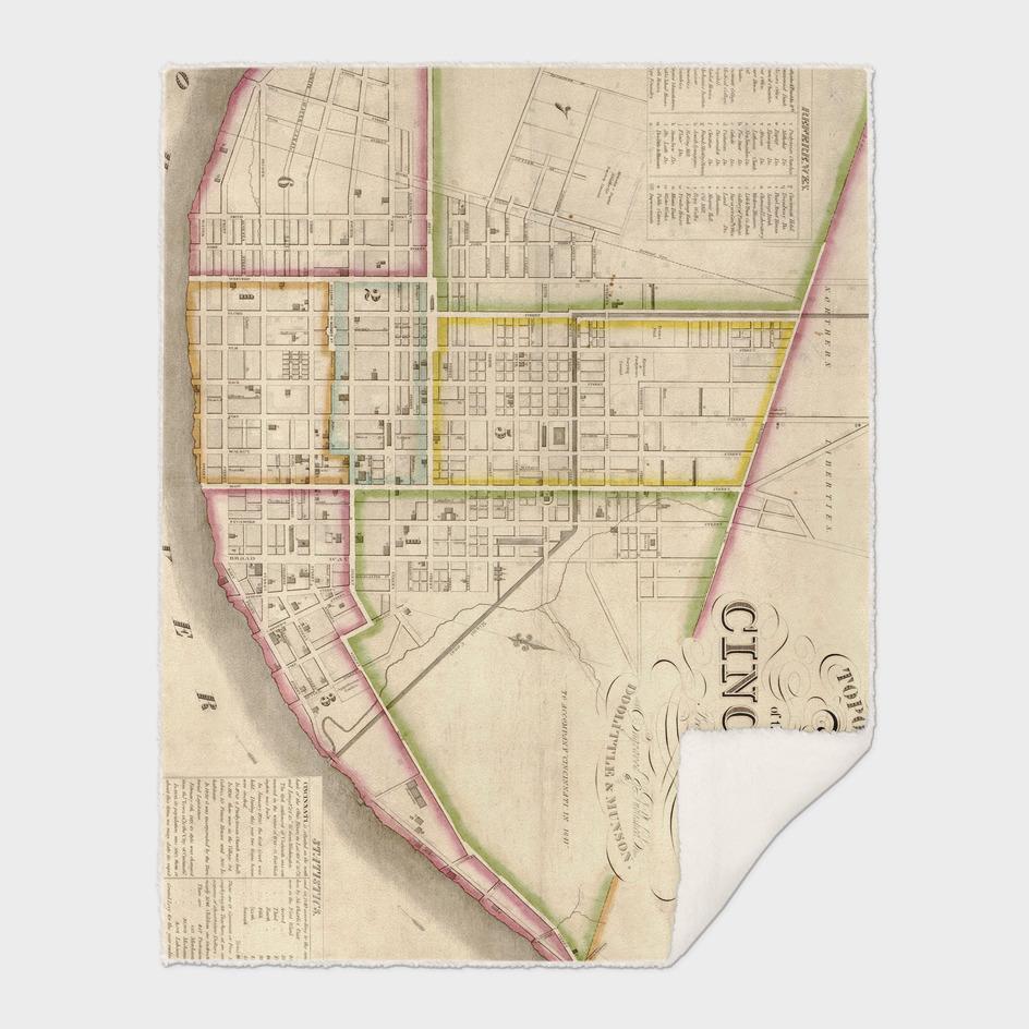 Vintage Map of Cincinnati Ohio (1841)