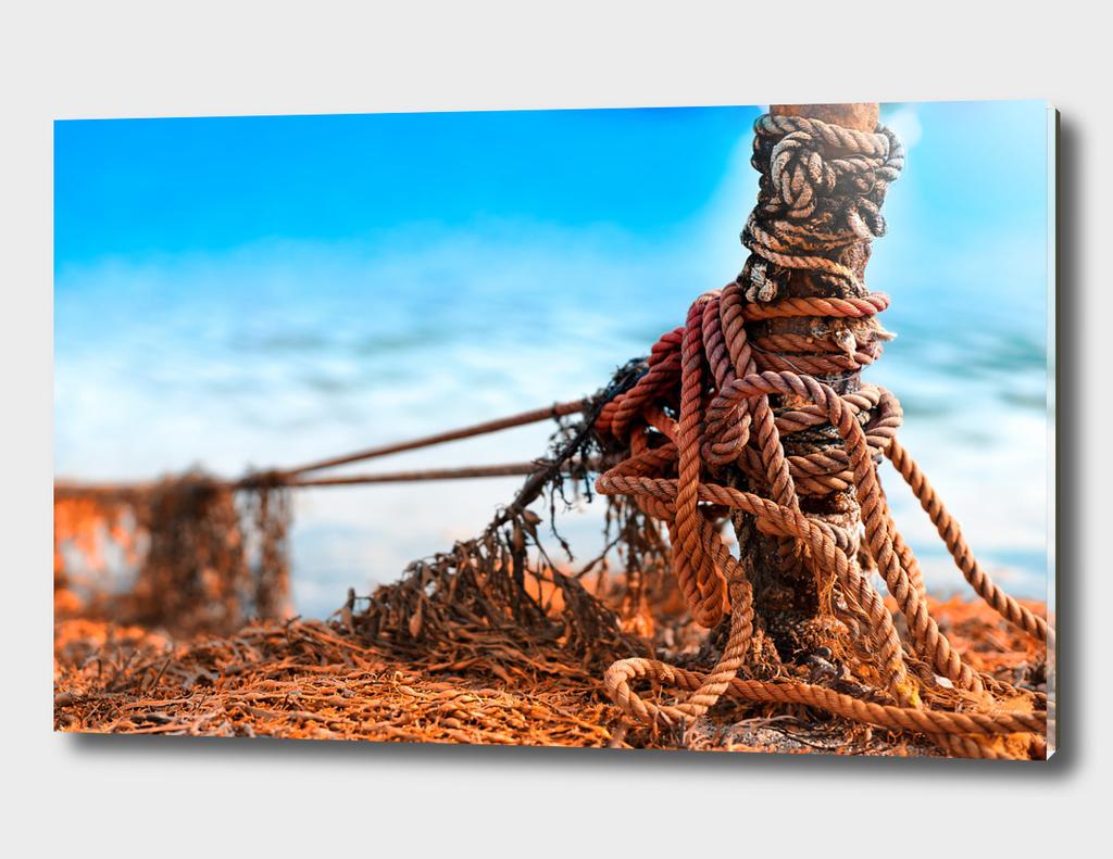 Dramatic mooring rope