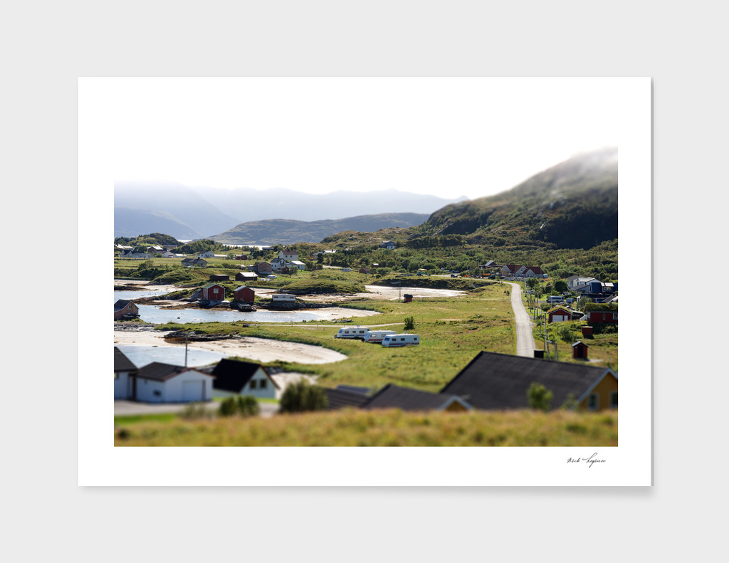 Traditional Norway camping landscape