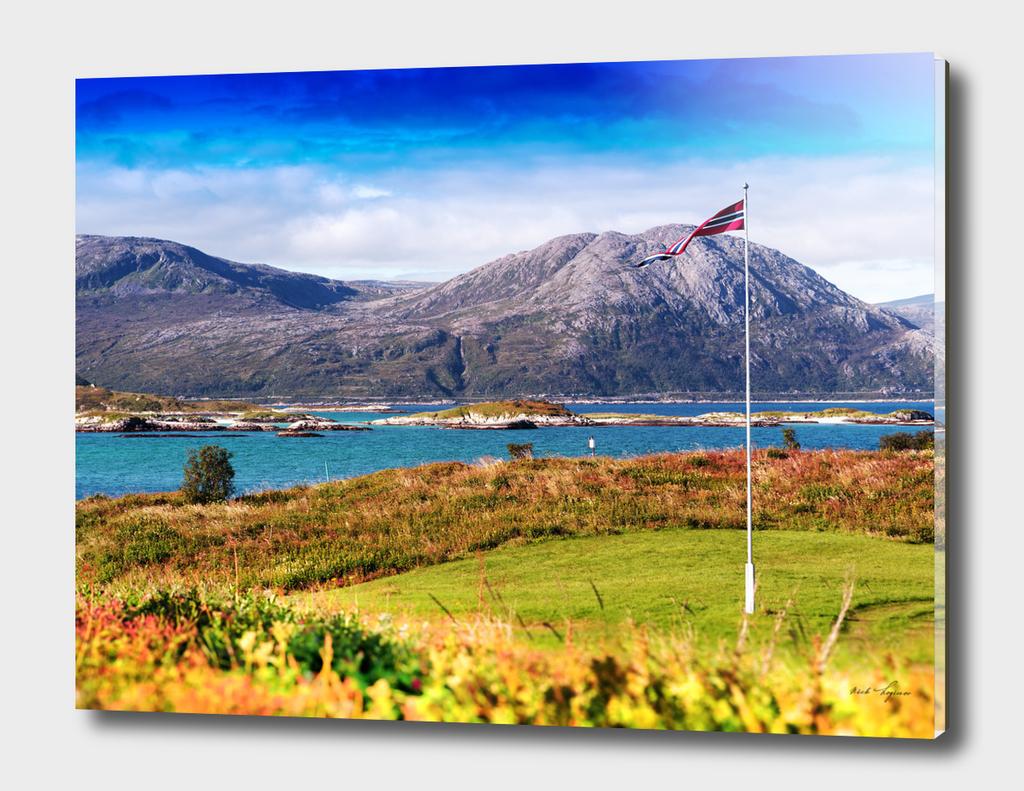 Norway flag generic landscape