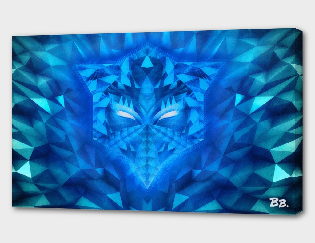 Deep Ice Blue Sub Zero Transformers Wolf Mask Portait